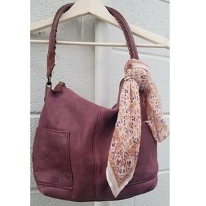 Sundance Simplicity Leather Slouch Bag Purse